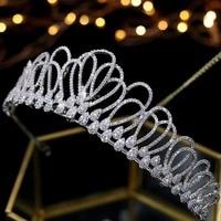 Asnora Zircon Crystals coroa de noiva Bridal Tiaras Wedding Crowns Hair Accessories tiara nupcial