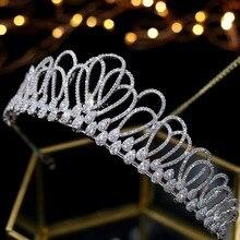 Asnora cyrkon kryształy coroa de noiva Bridal tiara korony ślubne akcesoria do włosów tiara nupcial