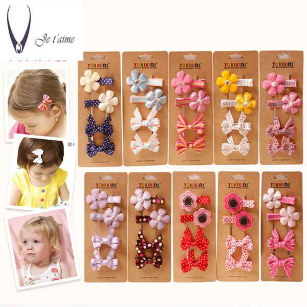 4pcs=1lot Korea Princess Hair Clips Girls Hair Accessories Flower Crown Hair Bows Hair Ornaments Rim Hairpin Kids Gift -5