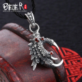 Vintage polish domineering Beier 925 silver sterling dragon claw  pendant gem pendant necklace fashion Jewelry A0609