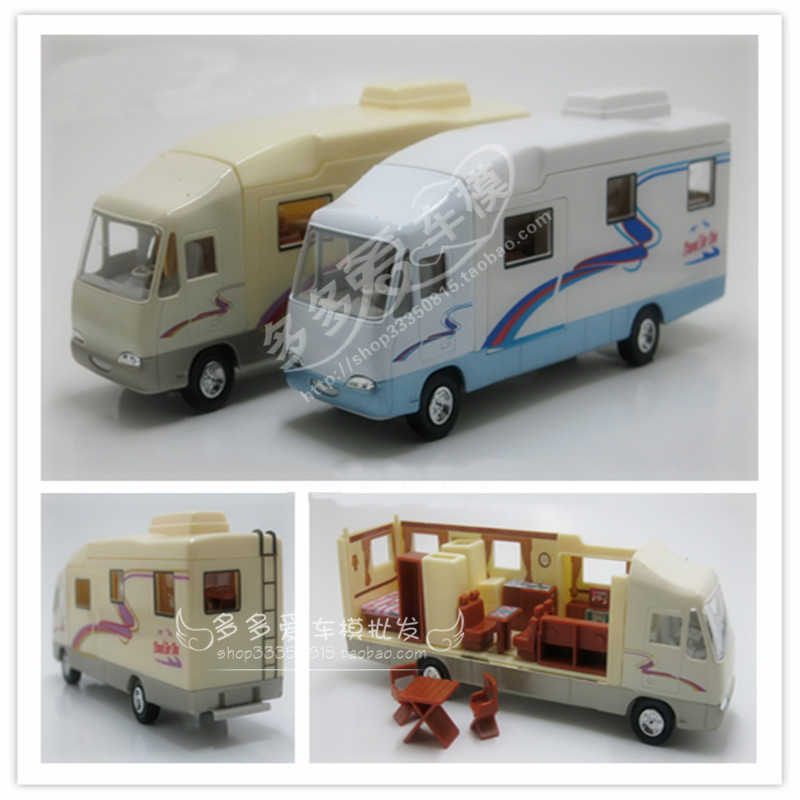1:32 Motorhome Car Toys Recreational RV Vehicle Diecast PVC With Pull Back Car Model Toy For Kids Gift  Free Shipping