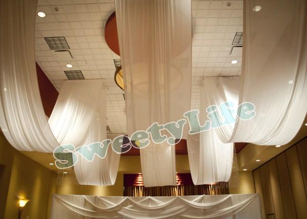 mariage 10 peas plafond drap canopy draperie pour dcoration de mariage tissu 14 m 16 - Drap Mariage Plafond