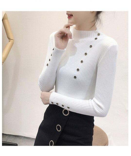Women Sweater Turtleneck Sweaters Women Korean Fashion Woman Knitted Sweater Women Sweaters and Pullovers Winter Clothes Women 25