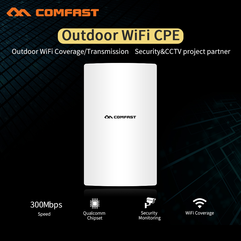 2018 comfast outdoor high power wireless bridge CPE 300Mbps wifi router AP 3km Long transmission wi-fi signal amplifier repeater