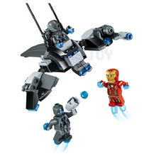 Super Heroes Iron Man VS Ultron Marvel Avengers Movie Building Blocks Bricks Compatible Lepined Gift For Kids Friends(China)