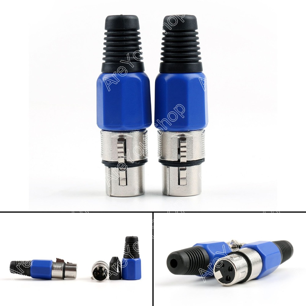 hight resolution of areyourshop sale 4 pcs 3 pin xlr audio cable connector mic female jack high quality minijack plug wire connector in connectors from lights lighting on