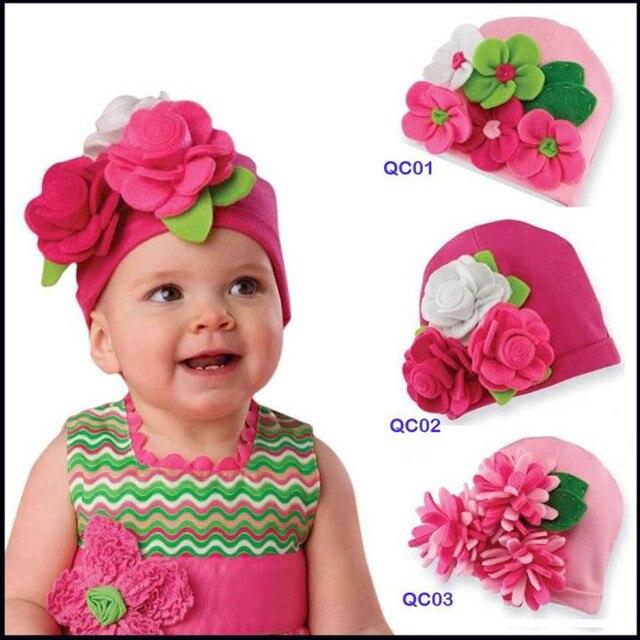 spesso Cappello del bambino coreano neonati e bambini piccoli fiori di  SE79