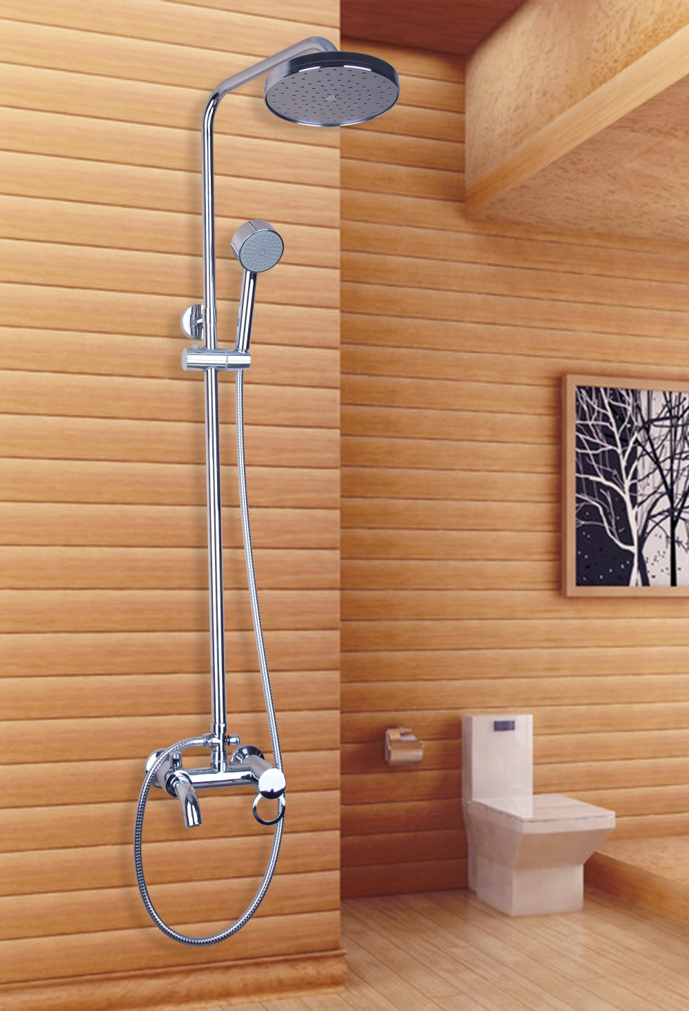 Bathroom showers head - New 8 Modern Bathroom Shower Set Shower Head With Adjustable Height Hand Shower Set Faucets