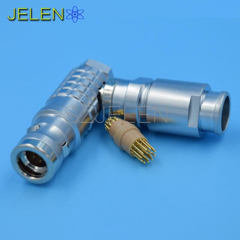 LEMO Connector 16-pin plug , FHG.1K.3016.CLAD 1k черный