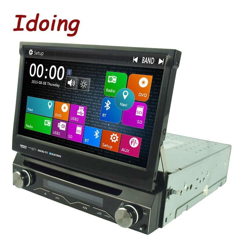 Idoing Steering-Wheel 7Inch 1Din For All Universal Car DVD Multimedia Player Wince 6.0 Autoradio GPS Navigation Bluetooth TV 3G