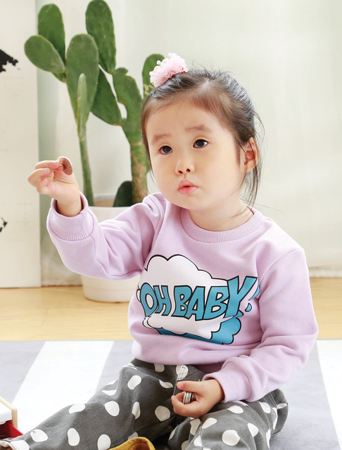 2016 new hoodies mommy and daughter clothes fashion mother father baby cotton family full sleeve letter family matching clothes