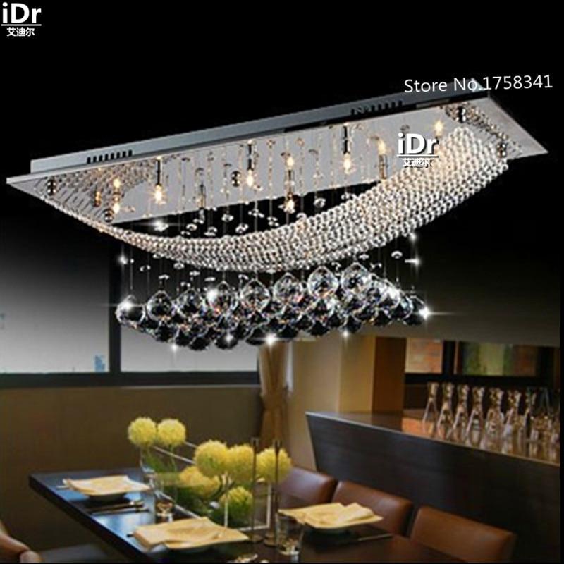 Самые популярные современные светильники для спальни хрустальные обеденные потолочные лампы Хрустальные высококлассные атмосферные люст