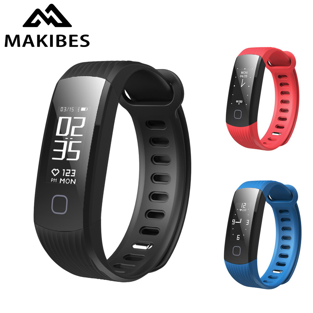 New Makibes HR1 Bluetooth Sports Smart Bracelet Activity Tracker Continuous Heart Rate Monitor Wristband IP67 Fitness Band original makibes hr1 smart bracelet fitness activity tracker continuous heart rate monitor 0 96 oled bluetooth wristband