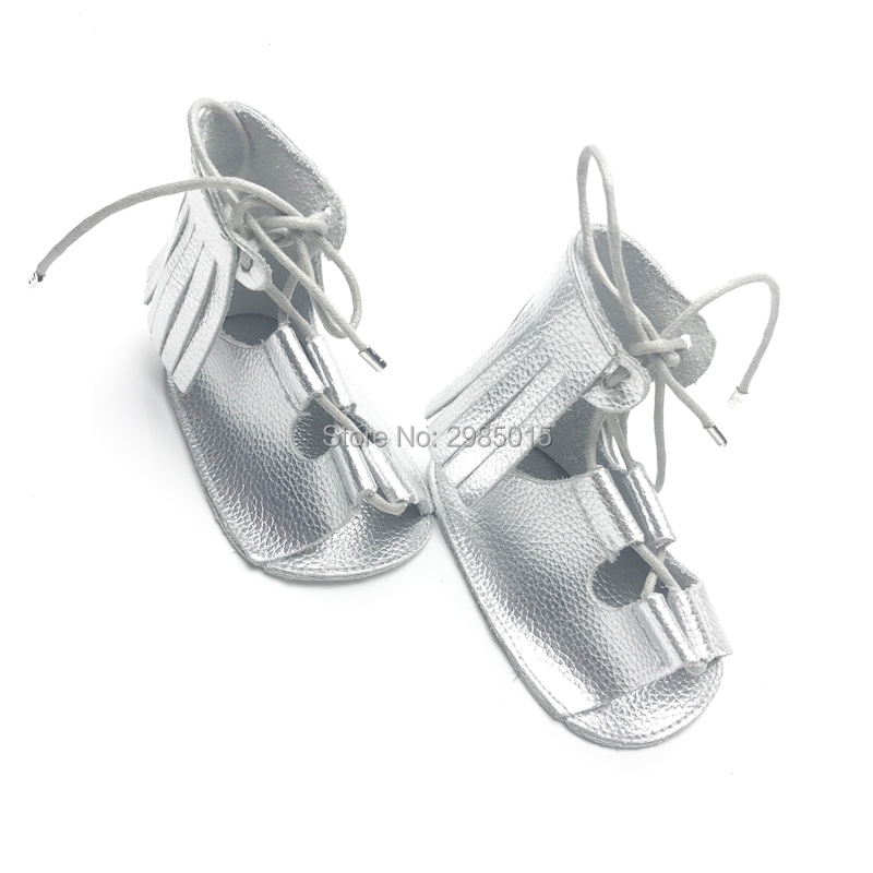New Style For Summer Bright Color Genuine Leather Infant Shoes Baby Gladiator Girls And Boys Baby Shoes Baby Moccasins
