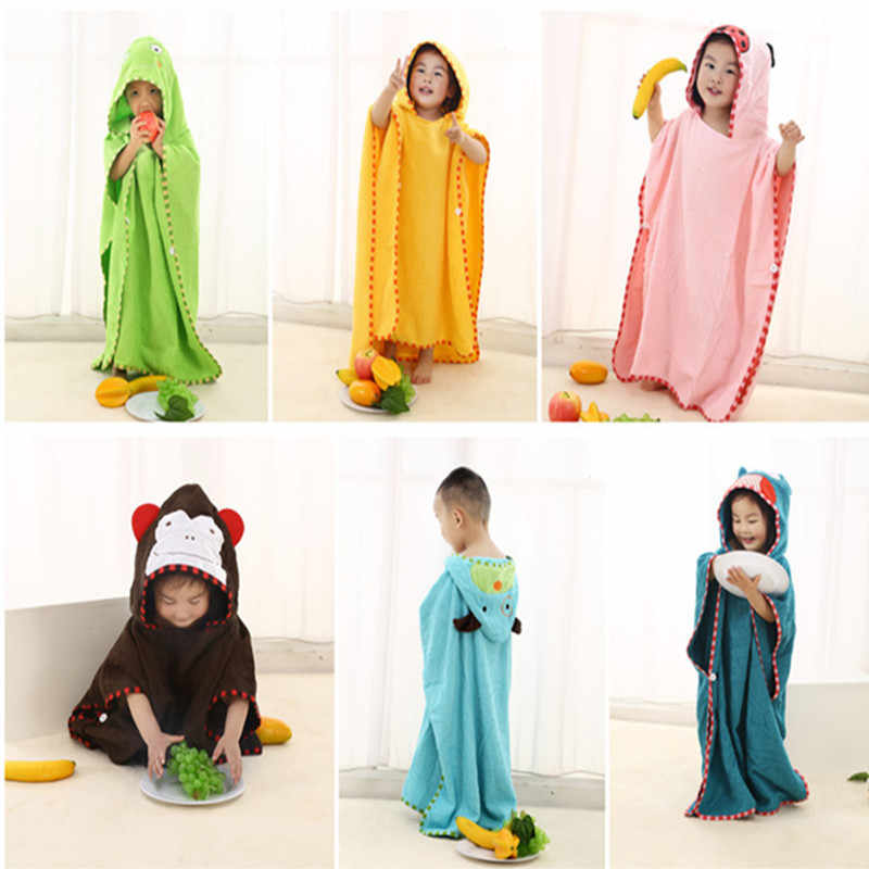 Animal Hooded towel 100% otton baby Bath Towel 70*140cm boys girls beach towel 0-14 years children hooded towel cartoon duck dog