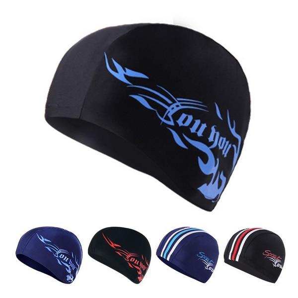 Buy H381 Spa Spandex Swimming Cap Package Hair Swimming Cap Suitable For