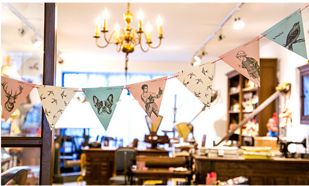 10pcs/set Vintage Garland Style Pennant Banner String Flags ...