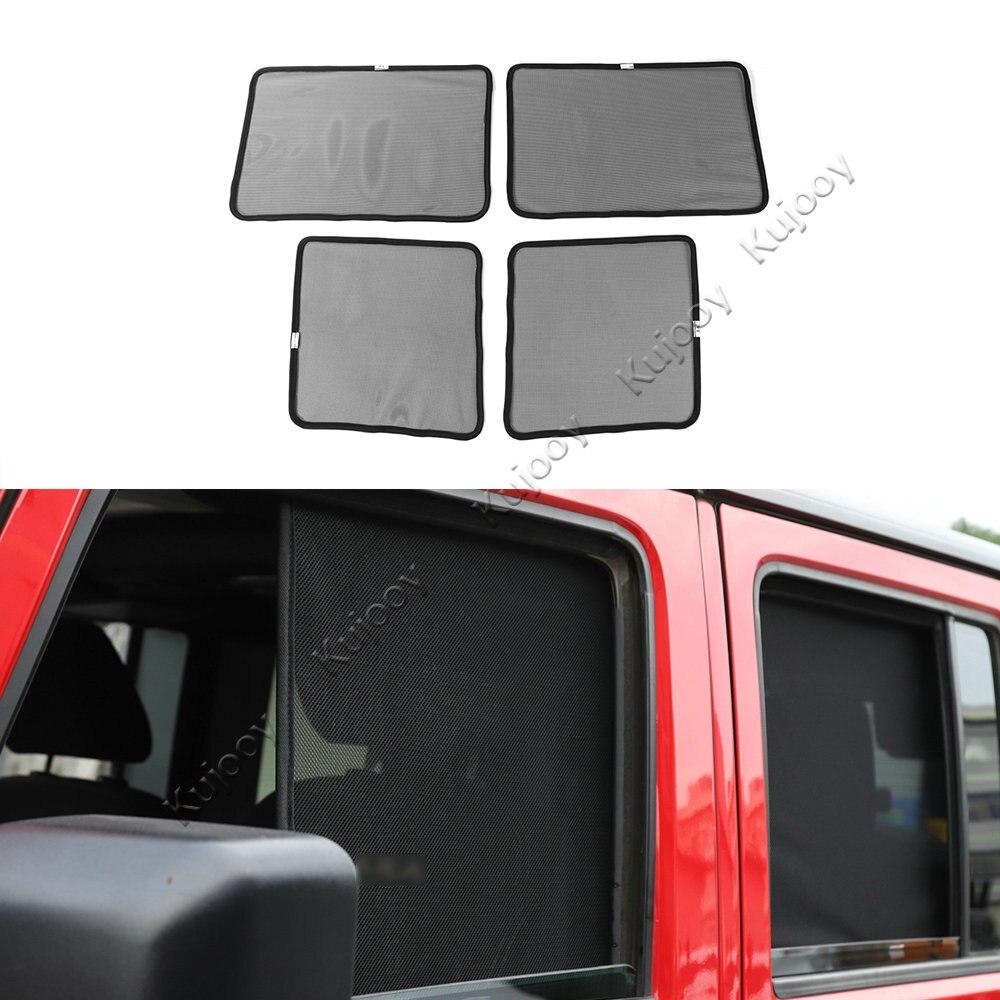 Voiture anti-uv rayons fenêtre soleil pare-brise pare-soleil ombre couverture voiture accessoires pour Jeep Wrangler 2007-2017 voiture style