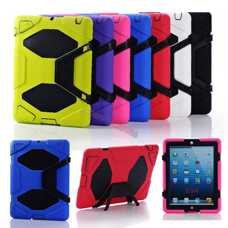 Tough Military Hard Rugged Heavy Duty Shockproof Dirt Proof Armor Case Cover Impact On Life For Le Ipad 2 3 4 New In Tablets E Books From Computer