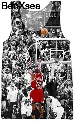 New 3D Tank Top Number 23 Size S M L Michael Jordan Legend Men Women