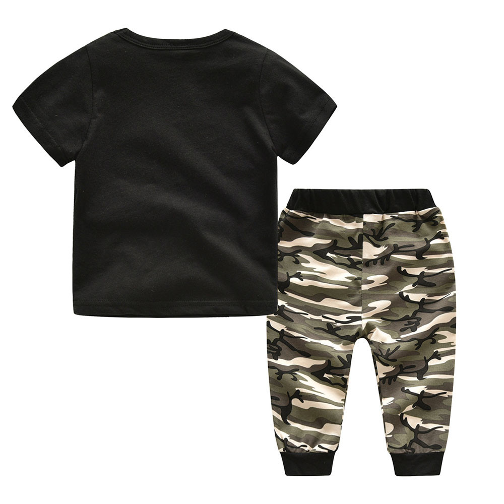MUQGEW 2018 Fashion Baby Boys Clothes Set Short Sleeve Camouflage Suit For Boys Children Clothing Cotton Costume For Kids Suits