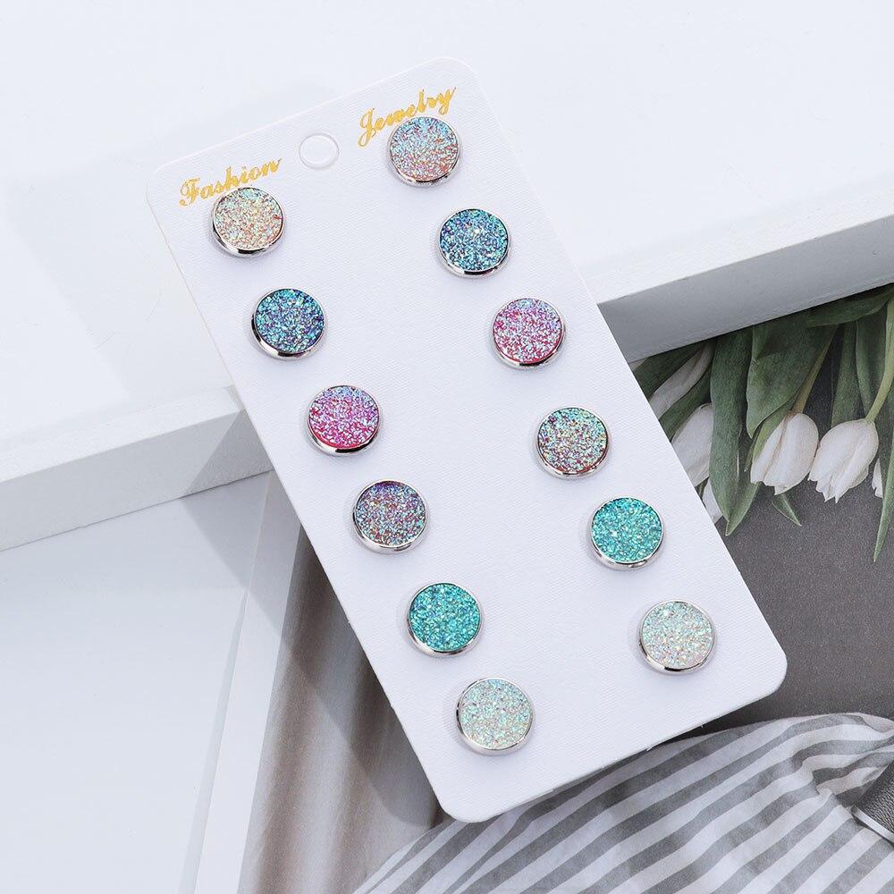 GN HOT Women Hollow Bowknot Faux Ruby Rhinestone Ear Stud Earrings Jewelry Conv