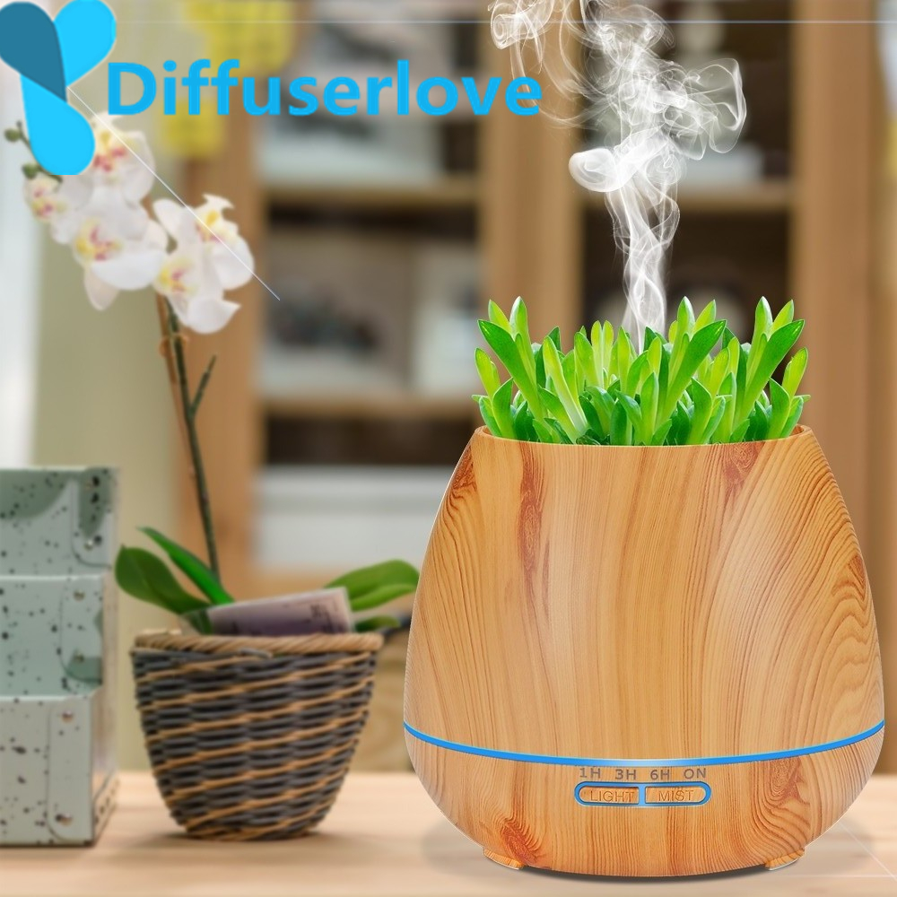 550ML Air Humidifier Essential Oil Aroma Diffuser Ultrasonic Humidifier Aromatherapy Fragrance Air Purifier Mist Maker