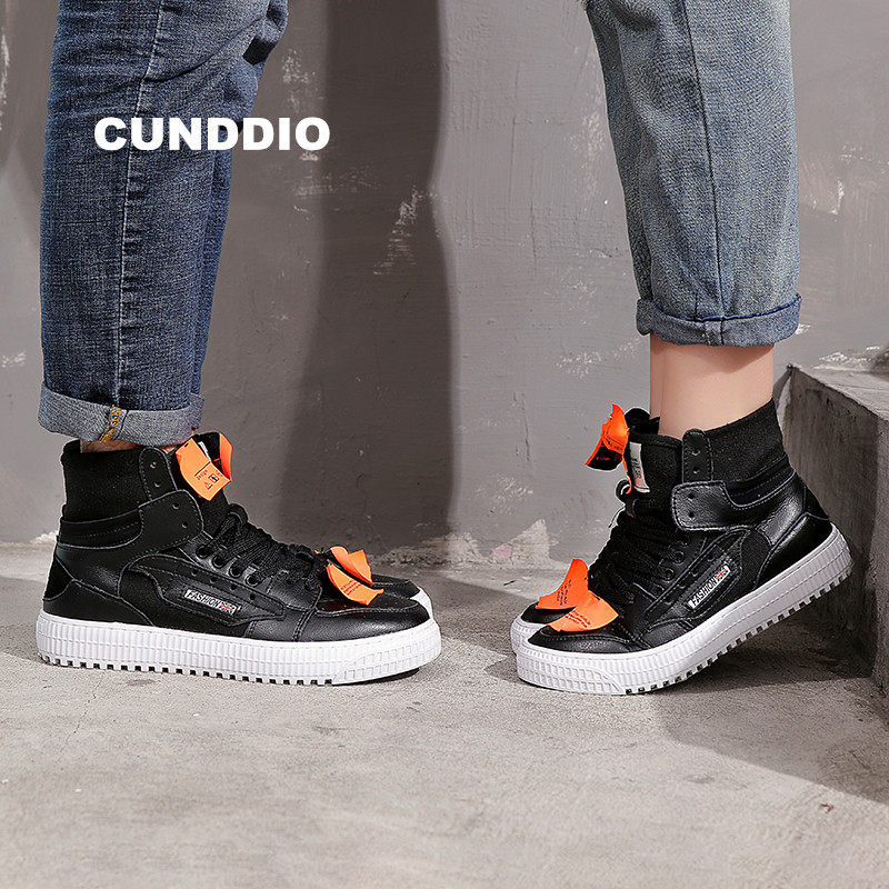 shoes woman High sneakers women outdoor Couples canvas Genuine Leather flat shoes tenis feminino casual shoes zapatos de mujer