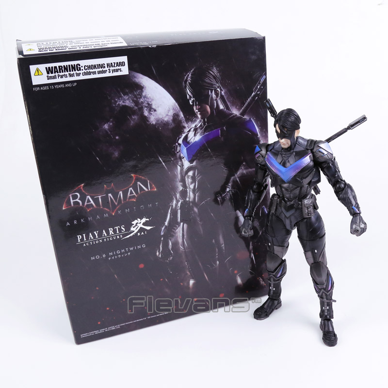 Play Arts KAI Batman Arkham Knight NO.6 NIGHTWING PVC Action Figure Collectible Model Toy anime cartoon doll batman arkham knight 1 6 scale painted figure play arts batman pvc action figure collectible model toy t5784