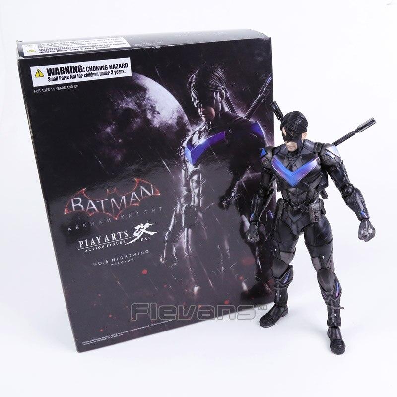 تلعب الفنون كاي باتمان arkham فارس no. 6 nightwing pvc عمل الشكل النادرة نموذج لعبة-في شخصيات دمى وحركة من الألعاب والهوايات على  مجموعة 1