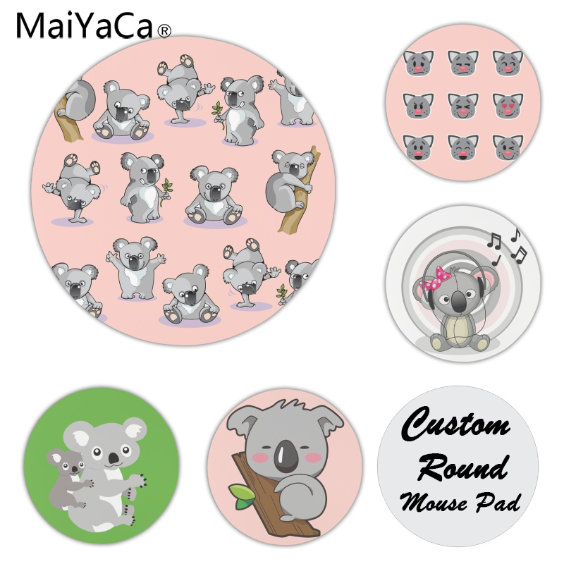 MaiYaCa Personalized Cool Fashion Cute Koala Great Silicone Pad to Mouse Game Size for 200*200*2mm and 220*220*2mm Mousepad