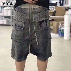 Hoge Kwaliteit Fashion Heren Vallen Kruis Harembroek Trekkoord Zakken Hip Hop Losse Shorts Man Casual Knielengte Baggy Shorts