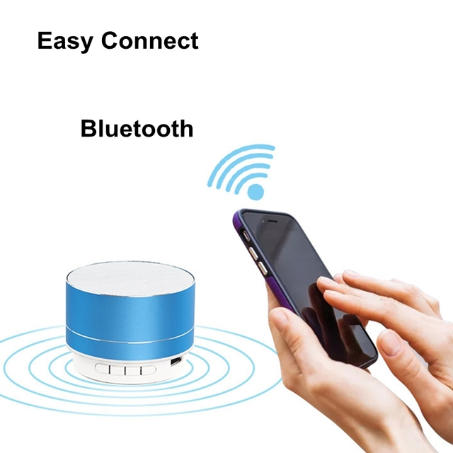Rechargeable Portable Bluetooth Speaker Mini Speaker Music Audio TF USB AUX Stereo Sound Speaker Audio Music Player 4