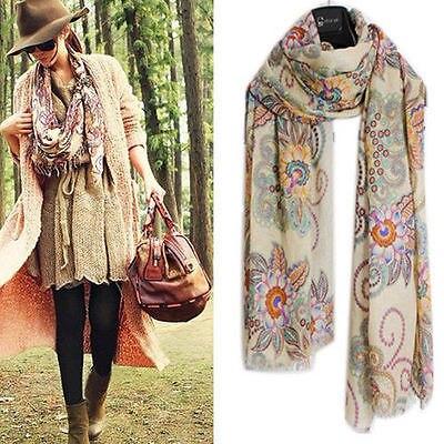 Lady Woman Pashmina Soft Warm Hood Cowl Warm Winter Large Shawl Scarf Wraps Chic