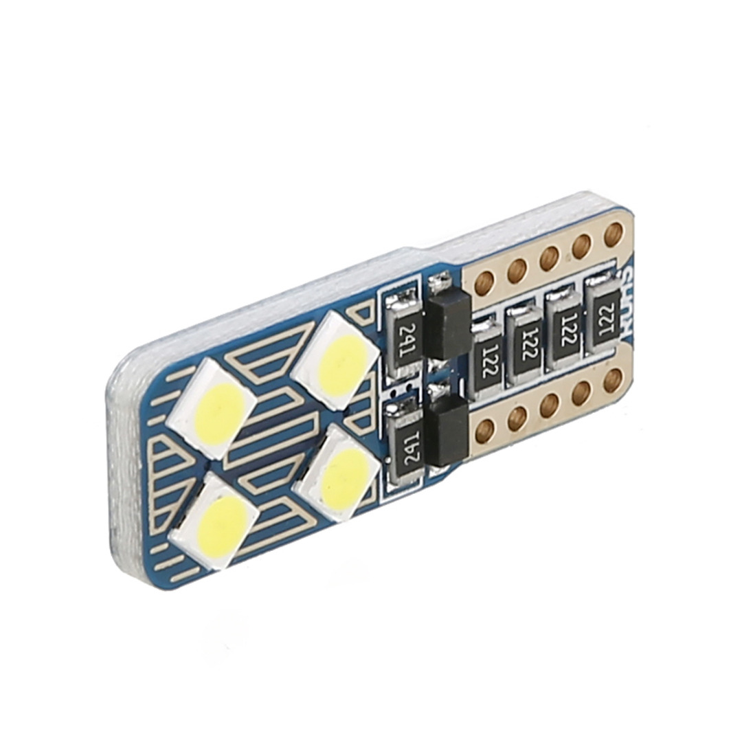 Mayitr 10pcs T10 3030 8LED Canbus Error Free Car Light Super White Auto Side License Plate Signal Lamp Bulb for Car Lighting