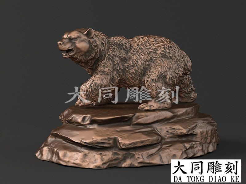 3D 4-axis CNC Router Stl File For Carving Engraving In Artcam Aspire 3D Model Statue File STL Format Bear 76M
