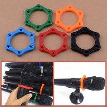 LETAOSK 5 шт. красочные микрофон Нескользящие роликовое кольцо прокатки беспроводной держатель Защита для ручной