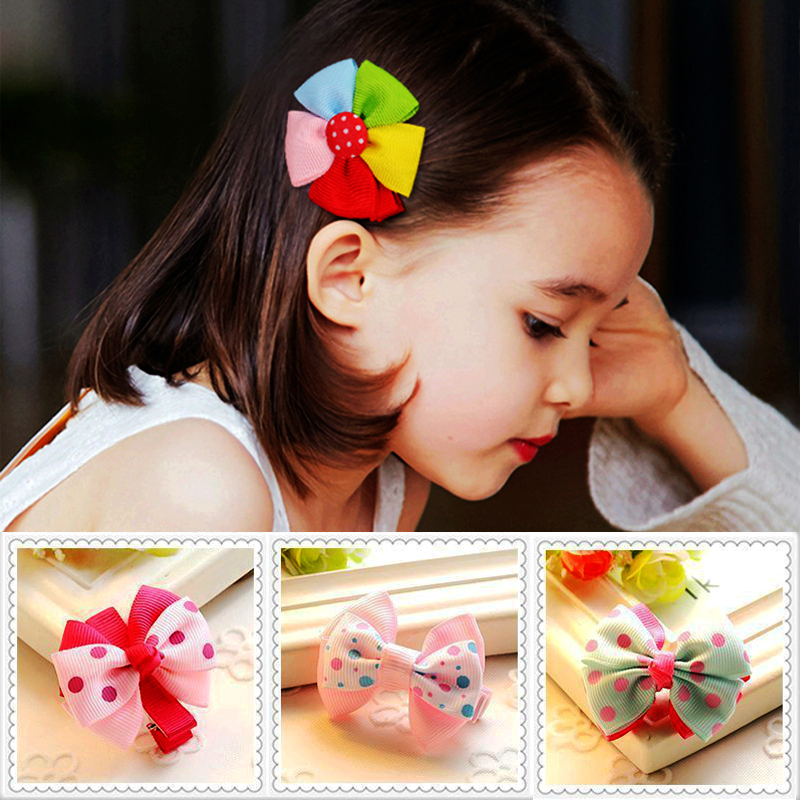 Baby Girl Hair Clips Bows Girl Head Accessories Baby Hair Pin Girls Headwear Kids Cute Hairpin Toddler Glitter Clip For Children
