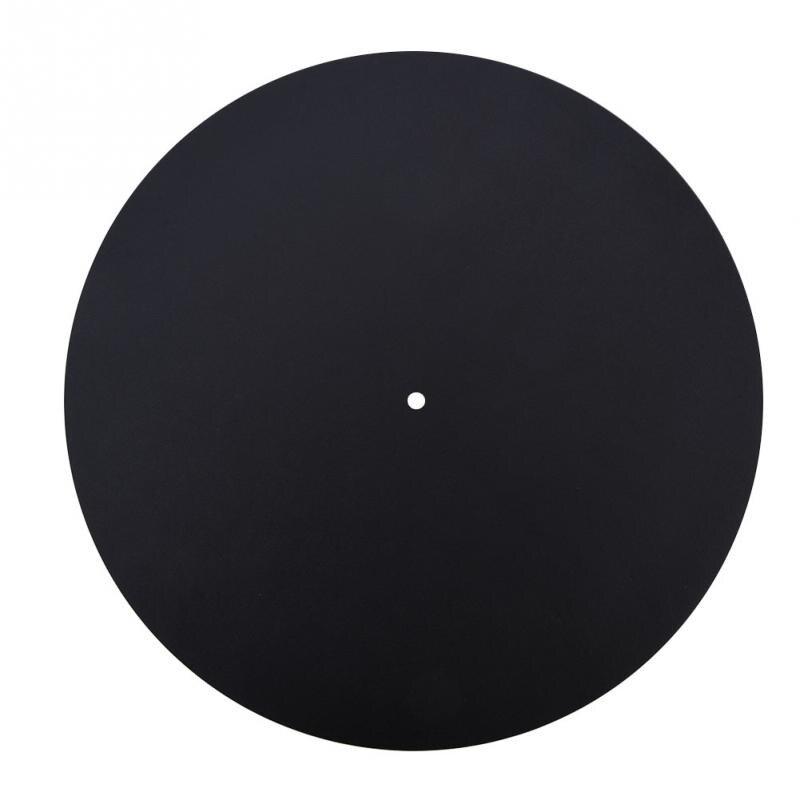 Tragbares Audio & Video Flight Tracker 1,5mm Dicke Vinyl Rekord Pad Anti-statische Vinyl Plattenspieler Rekord Pad Flachen Weichen Echtem Leder Matte Slipmat Pad Hohe Qualität