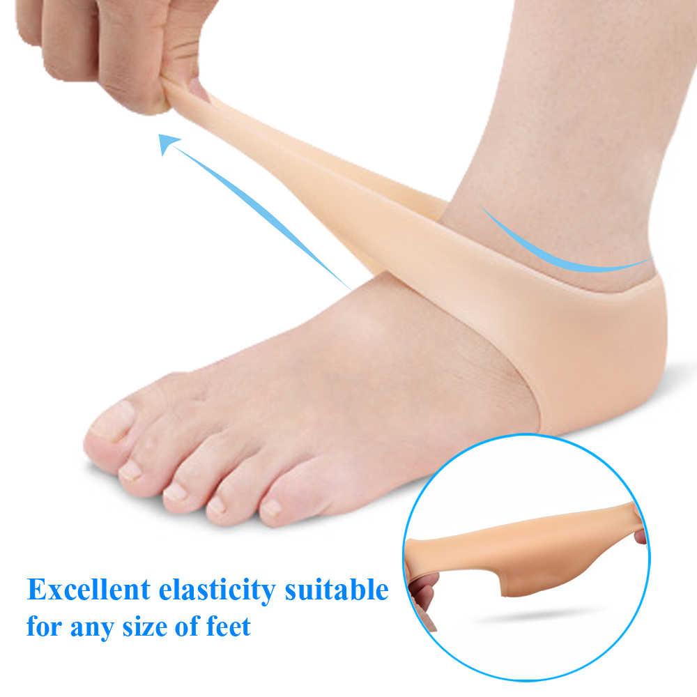 2 peças protetor de calcanhar protetor de manga protetora calcanhar spur pads para alívio fasciite plantar dor calcanhar reduzir a pressão no calcanhar 2 peças