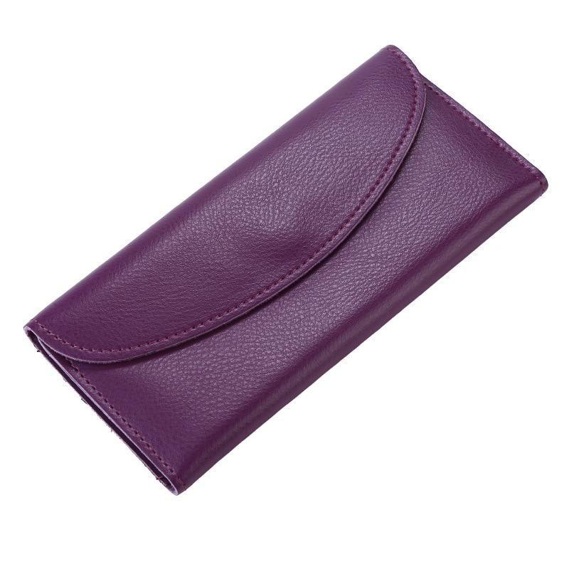 Thin Wallets Money-Bag Clutch Genuine-Leather Women Luxury Coin-Credit-Card-Holder Slim Purse