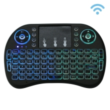 Haweel 2.4GHz Mini Wireless Remote Control Backlit QWERTY Keyboard Touchpad Multimedia for PC Android TV BOX X-BOX Player
