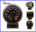 "New 3.75"" 95mm Tachometer RPM Gauge White Led With Internal Shift Light Black Case/Auto Gauge"