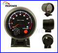 "Nuevo 3.75 ""95mm Tachometer Gauge RPM Shift Light Led Blanco Con Interior Negro Caja/Auto Calibre"