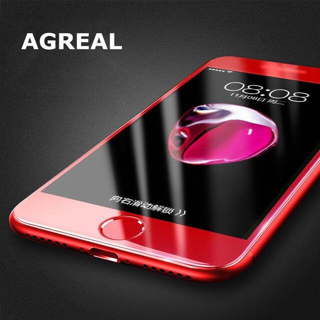 AGREAL Fur Iphone 8 Plus 6 S Displayschutzfolie 3D 03 MM Volle Abdeckung