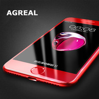 AGREAL For iphone 6 plus 6 red Screen Protector 3D 0.3MM Full Cover Film Red Tempered Glass For iphone 7 plus 7 Screen Protector