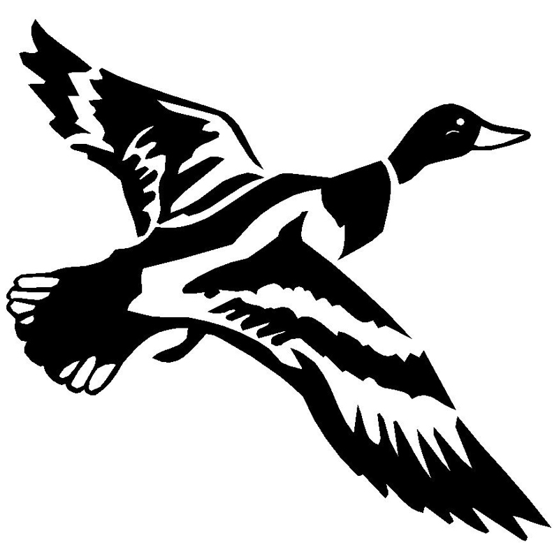 15.5cm*14.4cm Flying Duck Goose Bardian Vinyl Car Sticker Decal Black Silver Accessories S6-2675