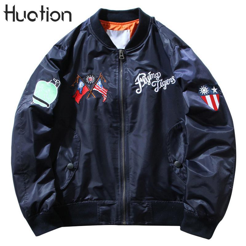 Huation Ma1 Bomber Jacket 2018 Spring New Brand Tactical Military Jackets Pilot Outerwear Men Army Flight Coat  Jacket Men