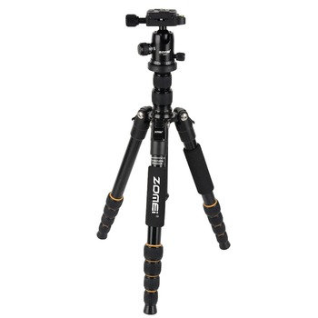 Zomei Q666 Professional Tripod Monopod with Ball Head Compact Travel Tripods Portable Camera Stand for SLR DSLR Digital Camera