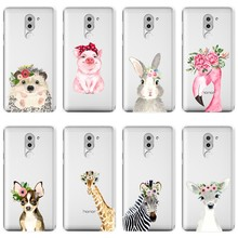 For Huawei Honor 6A 4C 5C 6C Pro Case Silicone Flamingo Pig Dog Rabbit Soft Back Cover For Huawei Honor 6 5A 4X 5X 6X Phone Case(China)